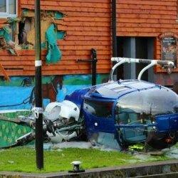 Helikopter uderzył w pub