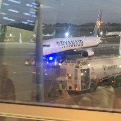 Spóźniony pasażer gonił samolot na lotnisku w Dublinie