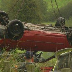 Samochód wpadł do rzeki, ofiara śmiertelna