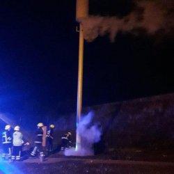 Podpalony maszt w północnym Cork