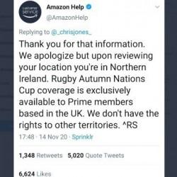 Amazon uznał, że Irlandia Płn. nie należy do Wielkiej Brytanii