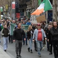 11 osób aresztowanych podczas protestu w Dublinie