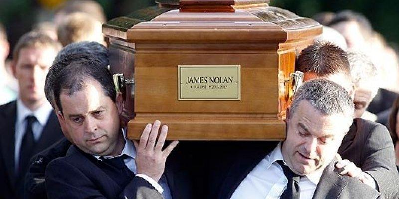 Pogrzeb irlandzkiego kibica