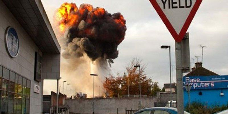 Centrum handlowe w Westmeath ewakuowane po gigantycznej eksplozji