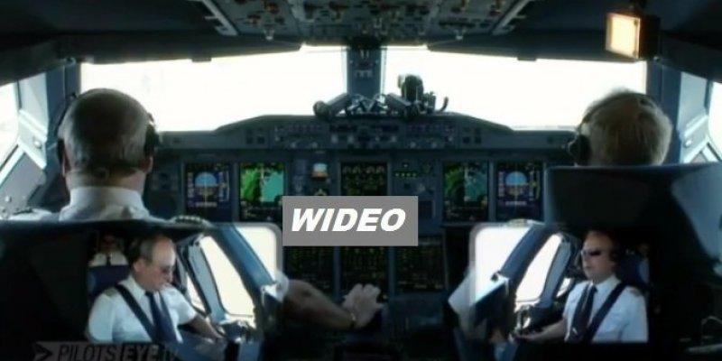 Zobacz lądowanie Airbusa A380. System kamer w kokpicie i na zewnątrz samolotu