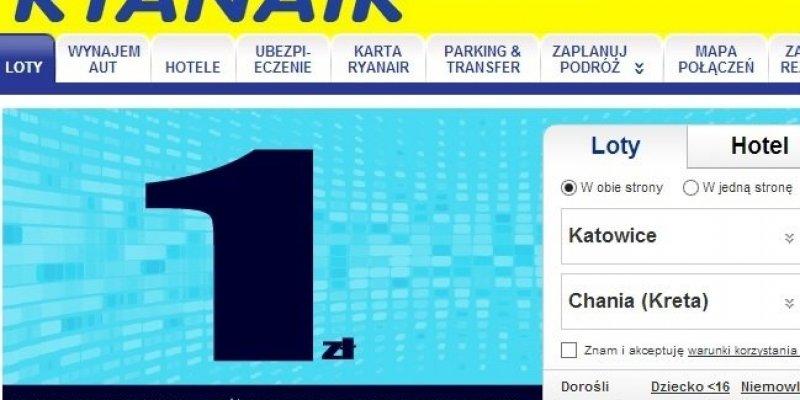 Ryanair: 100 000 biletów za 1 złoty