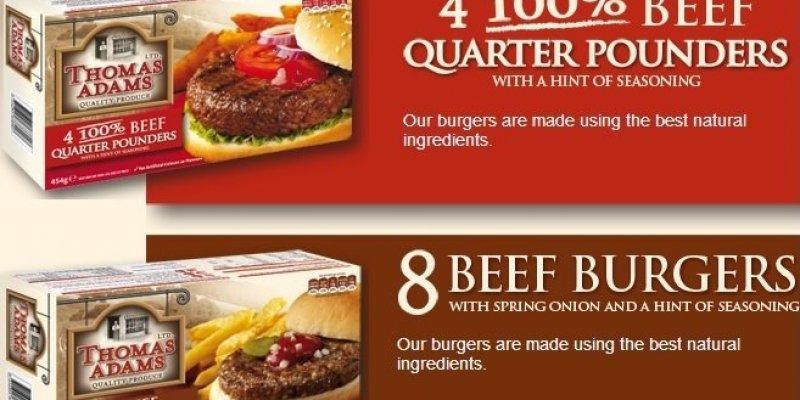 Mięso końskie i wieprzowe w wołowych burgerach w Tesco, Dunnes Stores, Lidl, Aldi oraz Iceland