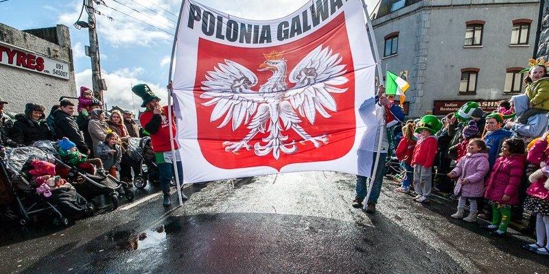 Polacy z Galway świetnie zaprezentowali się na paradzie świętego Patryka