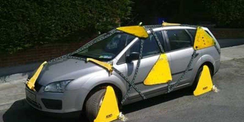 Rekordzista z Dublina i jego samochód został Clampowany 63 razy!