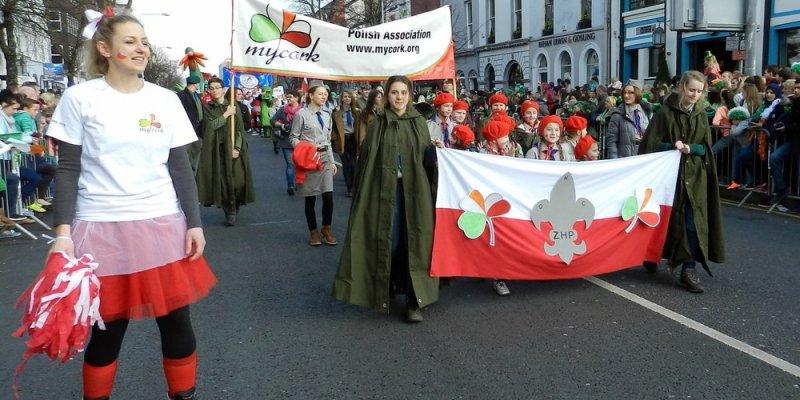 Polonia na Paradzie w Cork w Dniu św. Patryka