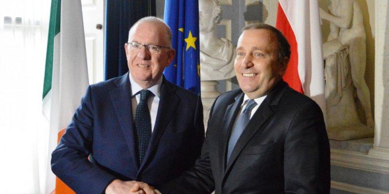 Wizyta ministra spraw zagranicznych RP Grzegorza Schetyny w Dublinie