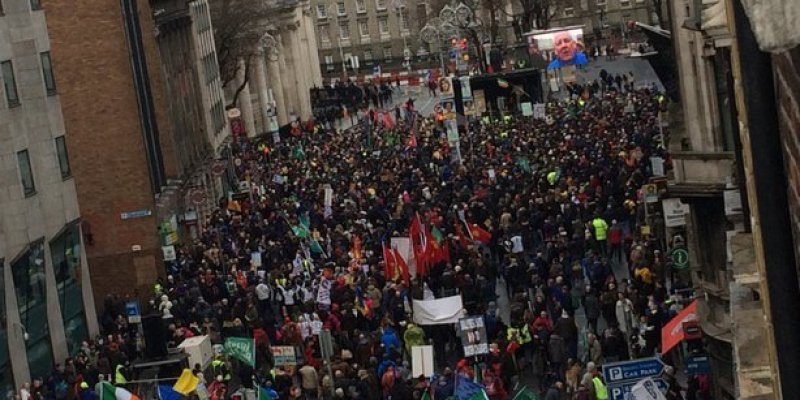Dublin protestuje