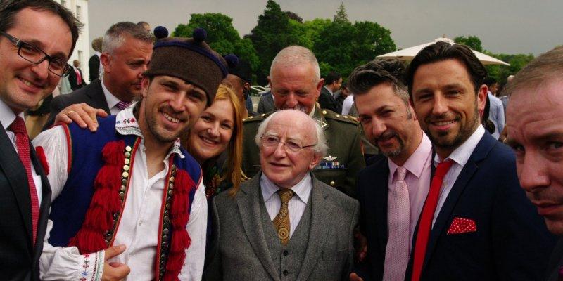 Spotkanie z Prezydentem Higginsem w Dublinie