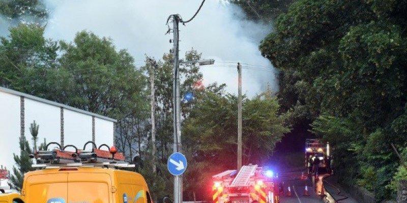 Niebezpieczny pożar w Glanmire, Co. Cork