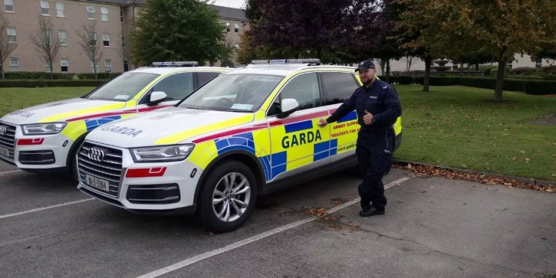 Policjant z Suwałk na stażu w Irlandii