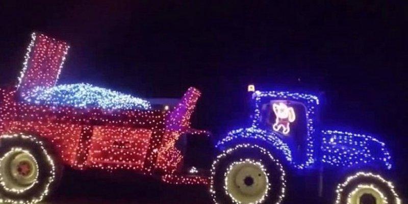 Świąteczny irlandzki ciągnik