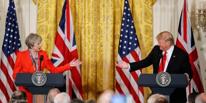 Brytyjska premier jako pierwsza spotkała się z prezydentem Trumpem