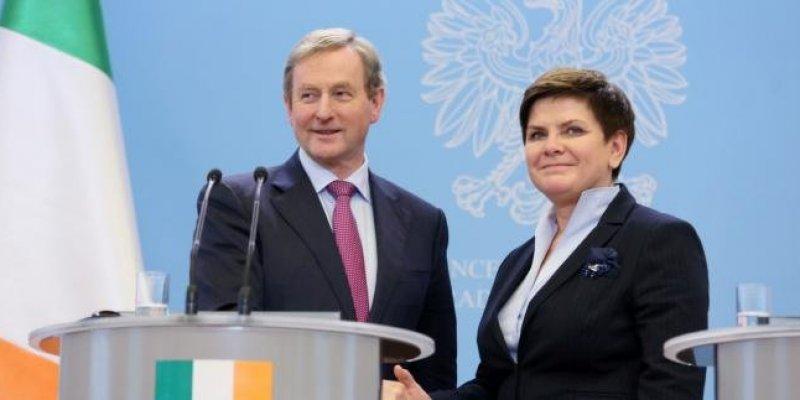 Brexit zdominował rozmowy premierów Irlandii i Polski
