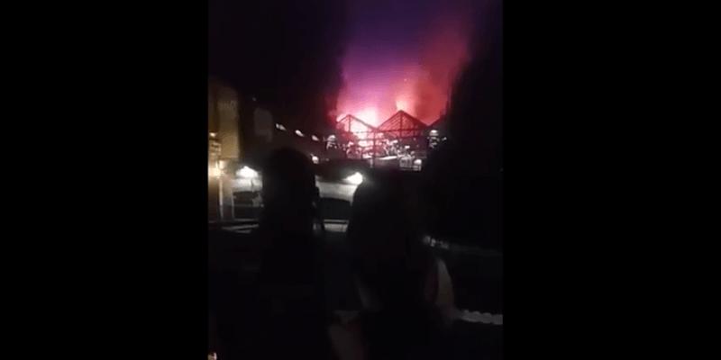 Wielki pożar na londyńskim Camden Market. Już opanowany