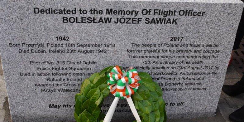 Irlandczycy uczcili pamięć polskiego pilota