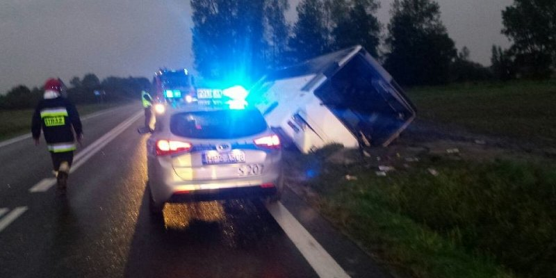 15 rolników rannych w wypadku pod Jędrzejowem