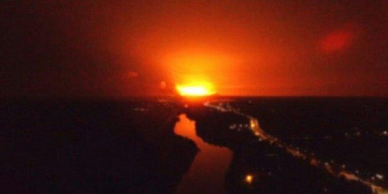 Pożar składu pocisków na Ukrainie