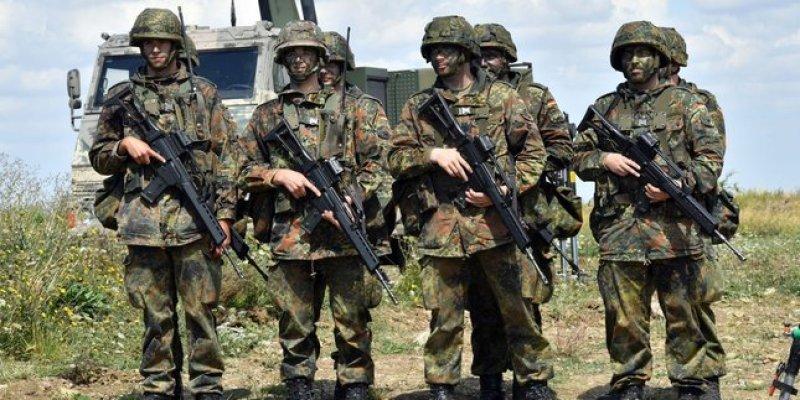 Duńskie wojsko na granicy z Niemcami