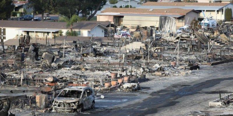 Wielkie pożary w Kalifornii