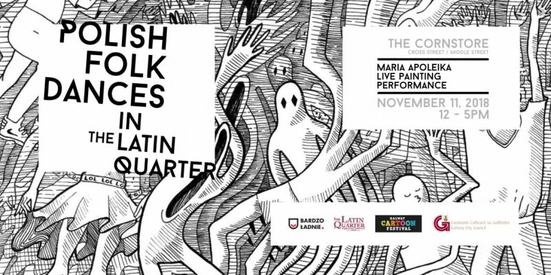 Polska artystka w dniu narodowego święta będzie tworzyć na żywo obraz w ramach Galway Cartoon Festival