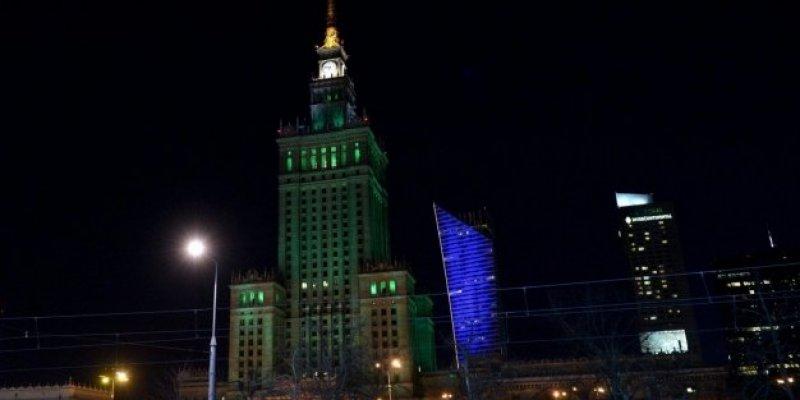 Pałac Kultury w niedzielę będzie zielony