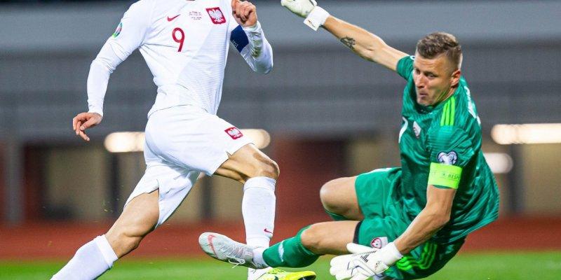 Łotwa - Polska 0:3. Trzy razy Lewandowski