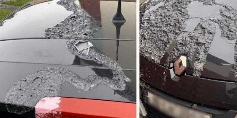 Wandale zniszczyli auto wylewając kwas na maskę