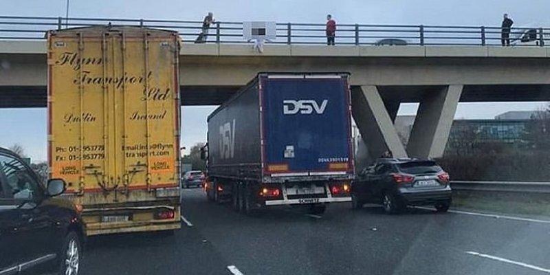 Kierowca ciężarówki uratował samobójczynię