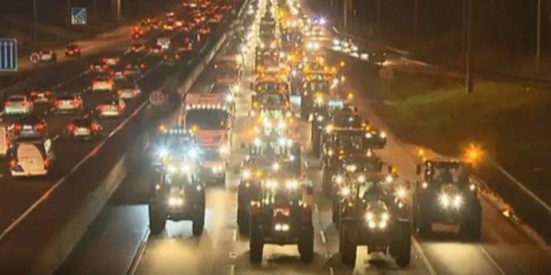 Traktory zablokowały ruch w Dublinie