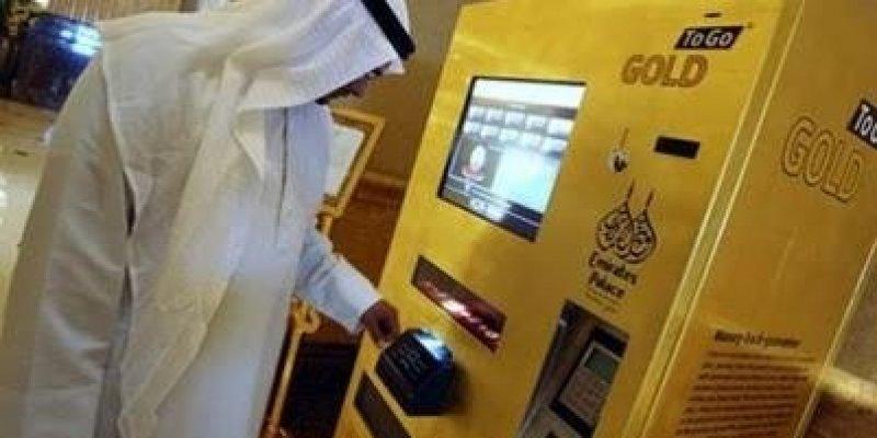 Bankomaty ze złotem.