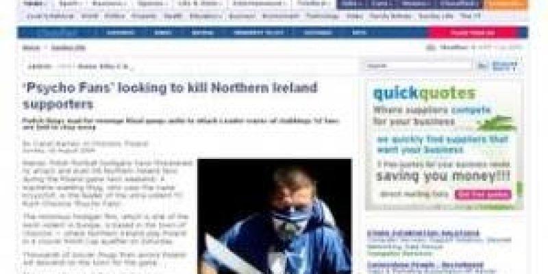 Irlandzkie media: Polacy chcą nas zabić w Chorzowie